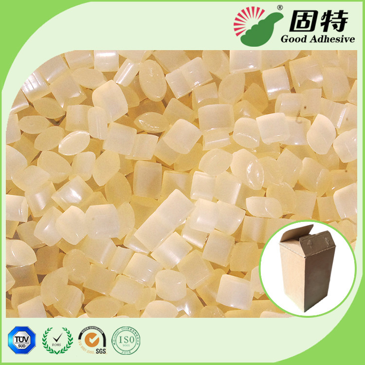 EVA Yellow granule Hot Melt Pellets For Packaging Corrugated Box Carton Sealing