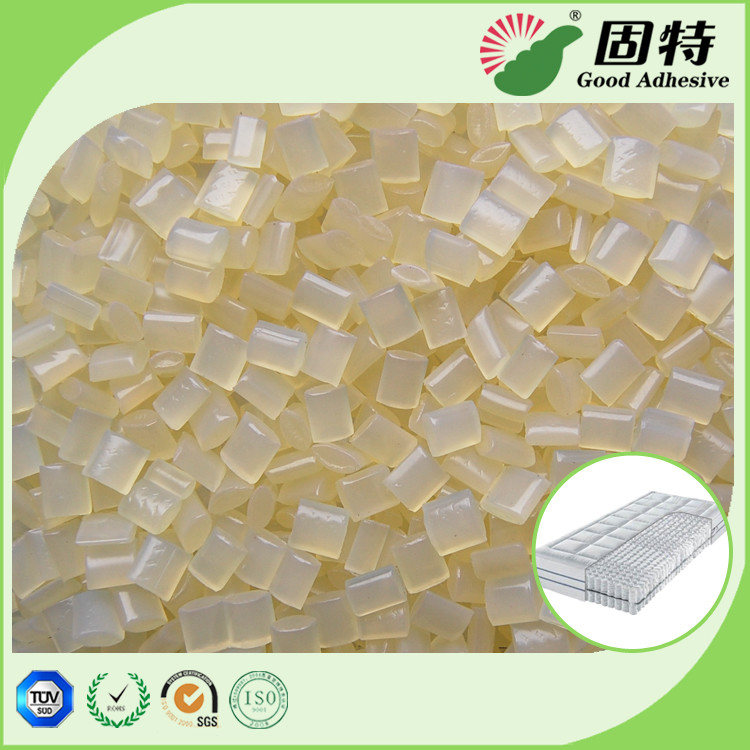 Yellowish Spring Hot Melt Pellets, EVA Hot Melt Glue Adhesive Granule for Pocket Coil Mattress Outer Cotton Packing