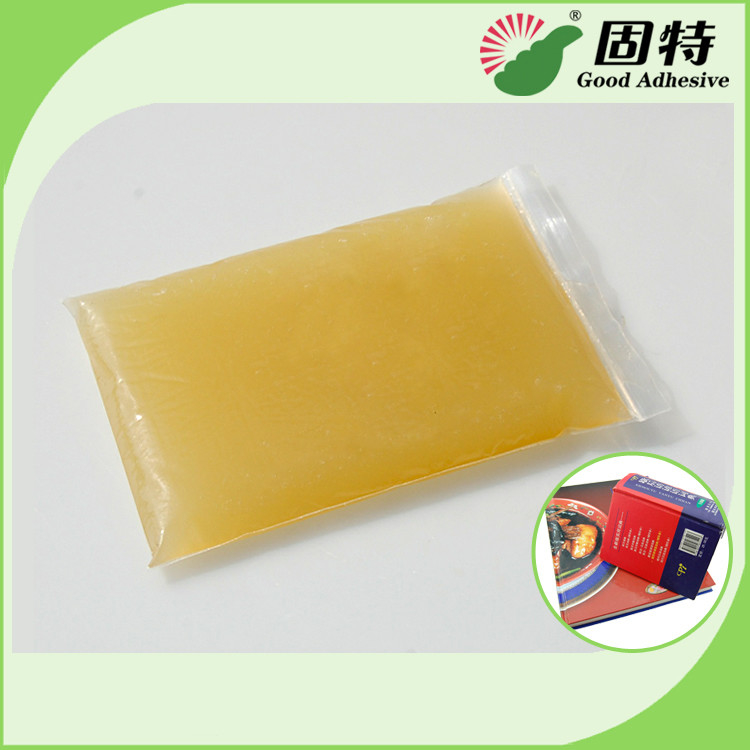 Light Amber Block Bookbinding Hot Melt Adhesive Glue , Animal Hide Glue